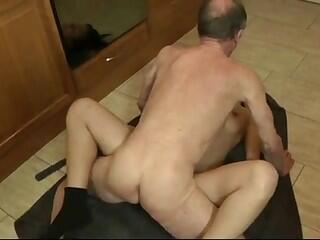 Old cock violating young tight pussy as it should